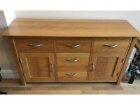 NOW SOLD -Oak Furniture , Table and Chairs, sideboard , console table , lamp table and side table.