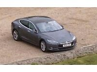 Tesla model S85. Grey with grey leather - 7 seat