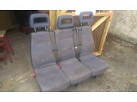 Triple seat with seatbelts, suitable for any van.