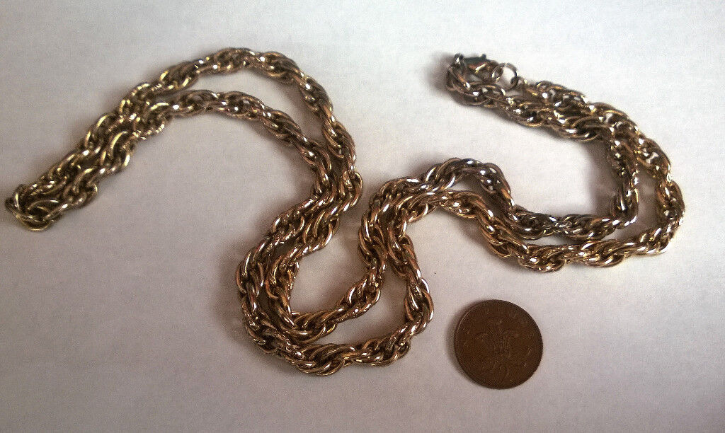 super heavy gold plated rope chain