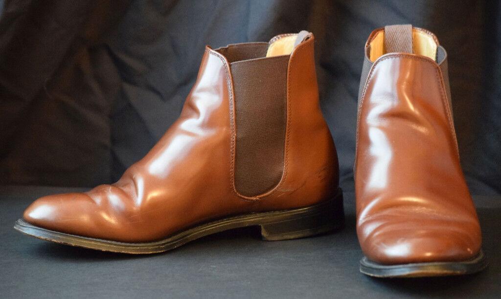 274db937158a Vintage Gleneagles Gentleman s Chelsea Boots ( Brown - UK Men s Size 7 )