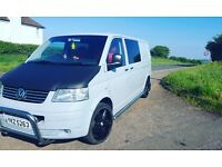 VW T5 Long Wheel Base Campervan with rock n roll bed and back seats