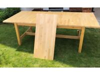 Ikea Norden Dining Table for sale, solid birch wood, 8 - 10 seater, in good condition.