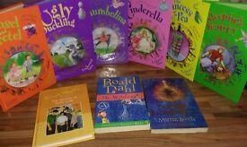 Selection of 6 Classic Children's Fairy Tale Books, plus 1 End Blyton Book