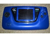 Sega Game Gear Very Rare Blue US Edition Fully Refurbished Very Bright And Loud