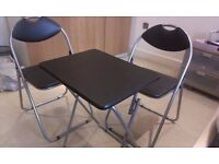6 months old Metal folding table and chairs for sale