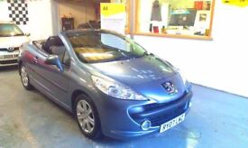 2007 PEUGEOT 207 CC 1.6 SPORT 2DOOR CONVERTIBLE, ONE OWNER FROM NEW, FULL SERVICE HISTORY, CLEAN CAR