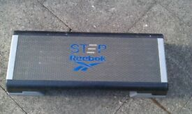 Reebok step platform with height adjustment blocks / gym / fitness / Aerobics