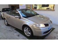2007 RENAULT MEGAN 1.9 DCI CONVERTIBLE, DIESEL. LEATHER SEATS, SERVICE HISTORY, CLEAN LIKE NEW