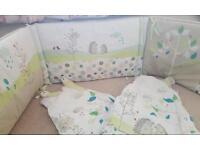 Newborn baby sleeping bags and cot surround
