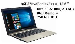 ASUS vivoBook X541U 15.6'' iNTEL i3-6100U, 2.3 GHz, 8GB , 750GB , MC Office Pro 2016