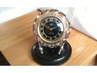 Collectible/Antique/Art deco, beautiful crystal Russian clock, made in U.S.S.R, C.1955, Wimbledon