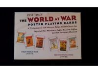 2 Packs Of 'Past Times: World At War' Picture Playing Cards In Presentation Box.