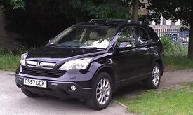 Honda CR-V EX I-CTDI Black with Ivory Leather Seats throughout (heated front seats)