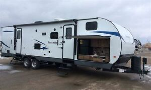 2017 Gulf Stream Serenity 30FRK Outside Kitchen, Bedroom slide
