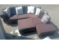 Corner Sofa DFS Hemmingway With Footstool And Cushions NEEDS TO GONE TODAY - LOCAL FREE DELIVERY