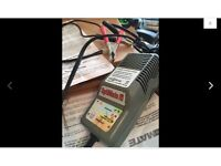 Battery Optimiser Desulphating-Charger. VGC.With Crocodile clips and Permanent bike lead
