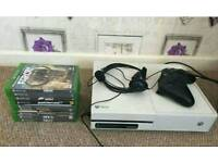 Xbox one in white with loads of games