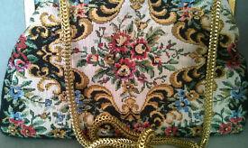vintage tapestry handbag