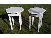 TWO PAINTED COFFEE/SIDE/OCCASIONAL TABLES