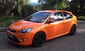 Ford Focus 2.5L 225bhp, ST-3, 3-Dr, 63,000m, Electric Orange, Black Alloys, Recaro Leather Seats