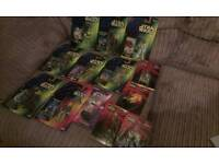 Carded star wars action figures and collectables