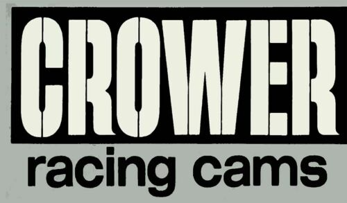 "CROWER RACING CAMS 14"" HEAVY DUTY USA MADE METAL RACE ADVERTISING SIGN"