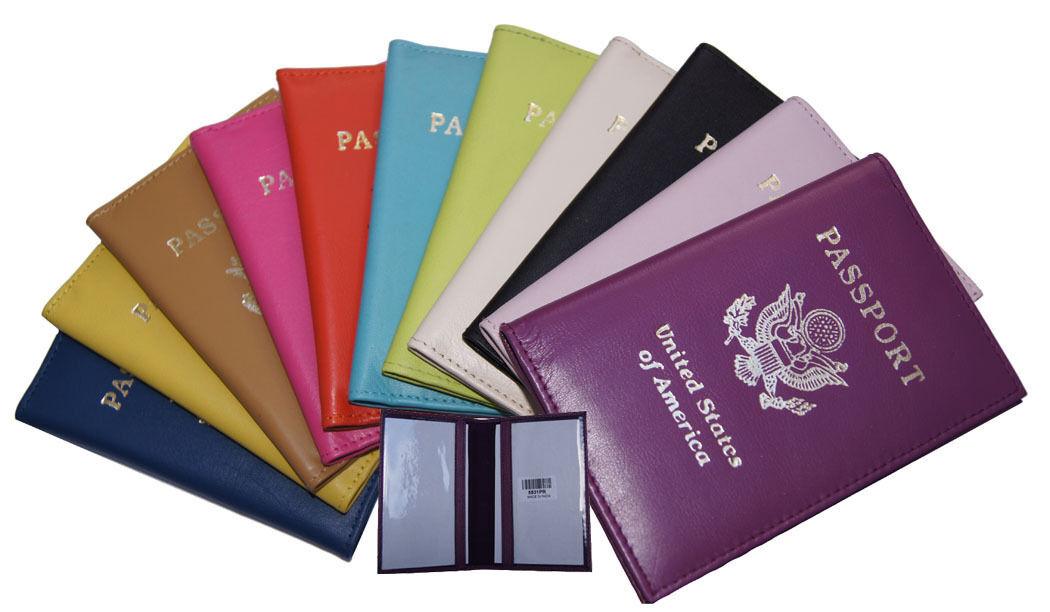 Купить Handmade - Genuine Leather US Passport Cover ID Holder Wallet Travel Case Handmade New
