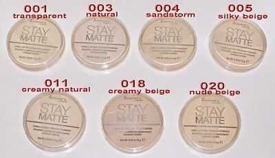3 PCS Rimmel Stay Matte Pressed Powder (Cracked Lids) -Pick Shade (FREE US SHIP) - Cracked Face Makeup