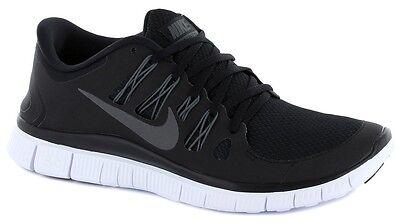 Nike Free 5.0 + Mens Running Shoes Black White Metallic Grey Sneakers 579959 002
