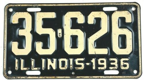 Illinois 1936 Vintage License Plate Antique Car Tag Garage Man Cave Gift Shorty