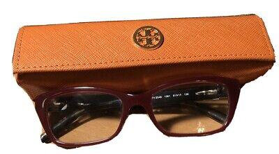 Tory Burch Eyeglasses TY 2049 1361 Burgundy/Leopard Rectangular Frame 51-17 (Leopard Eyeglasses)