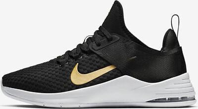 Nike Air Max Bella TR 2 Womens Training Shoes AQ7492 001 Black Metallic Gold -
