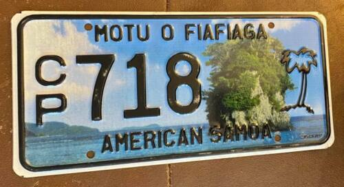 American Samoa 2010 License Plate HIGH QUALITY # CP 718