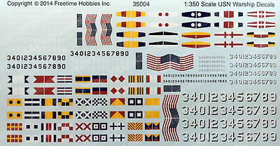 US Navy Ship Decals 1/350 Scale