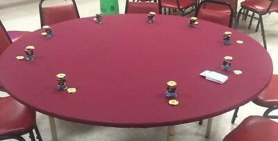 Game table cover in Poker Felt Tablecloth - Majhhong w/ elastic edge  MTO - Casino Table Cloths