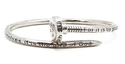 4031478 Nail Design Bangle Bracelet Scripture Ephesians 2:8 Designer Christia...