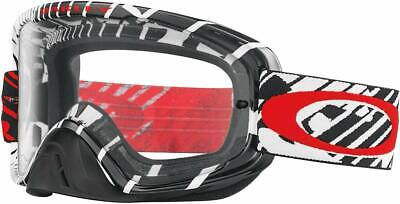 Oakley O2 MX Goggles (Skull Rushmore Red Frame/Clear Lens) OO7068-11