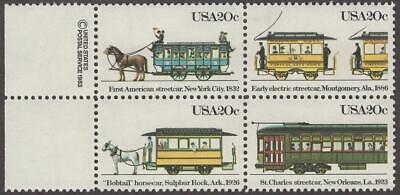 Scott # 2059-2062 - USPS Block Of 4 - Streetcars  - MNH - 1983