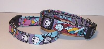 Wet Nose Designs Nightmare Before Christmas Dog Collar Jack Sally Halloween