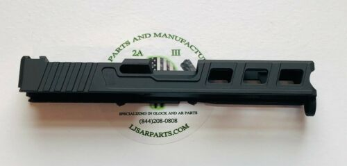 Slide for Glock 19 GEN3 9mm. Black in color - RMR -trijicon and holoson-LF ELITE