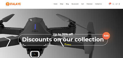 Fully Automated Dropshipping Drone Website Business - Instant Delivery