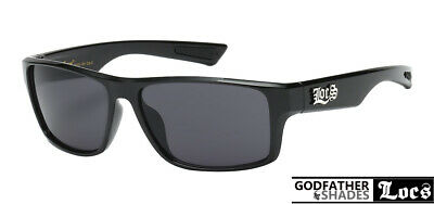 LOCS 91111 Black Sunglasses | Authentic Gangster Cholo Lowrider Designer (Black Shades Sunglasses)