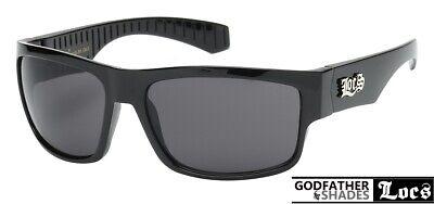 Authentic LOCS Sunglasses Gangsta Shades BLACK Motorcycle Lowrider Eyewear - Gangsta Sunglasses