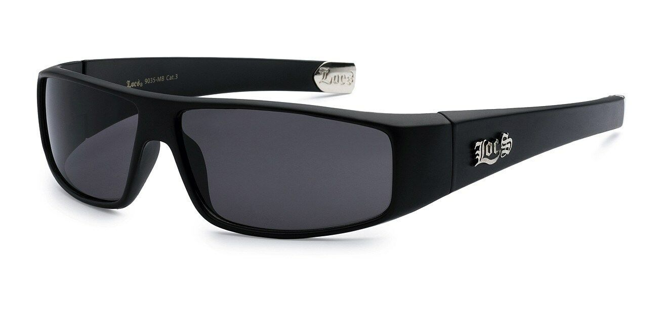 228db3e962d5 Details about Locs Sunglasses Black OG Biker Original Gangster Shades Mens  Dark Lens 9035MB