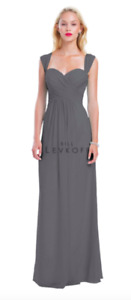 Bill Levkoff Bridesmaid Dress - Pewter, Size 5-6