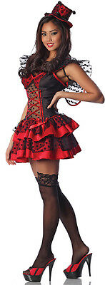 Sexy Adult LADY BUG Costume Red w/ Black Net Dress & Wings Hat Large XL 10 12 14 - Lady Bug Costume Adult