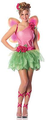 Sexy Adult Halloween  Rose Fairy Sprite Pixie (Rose Fairy Kostüm)