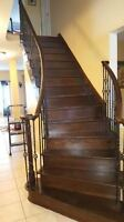 HARDWOOD AND LAMINATE INSTALLATIONS +STAIRS WITH MANY YEARS