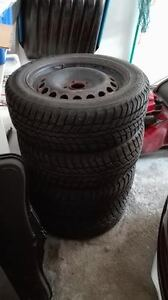 4 Motomaster winter tires with rims 205/55R16 clearance